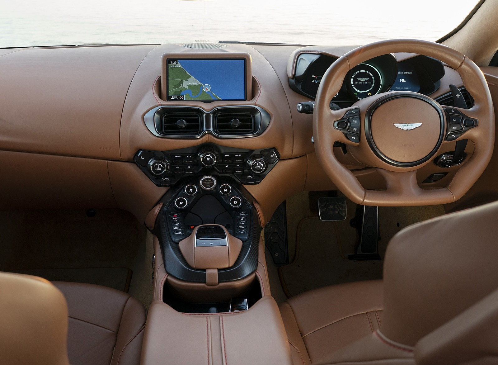 2019 Aston Martin Vantage Uk Spec Interior Cockpit Wallpapers 74 Newcarcars