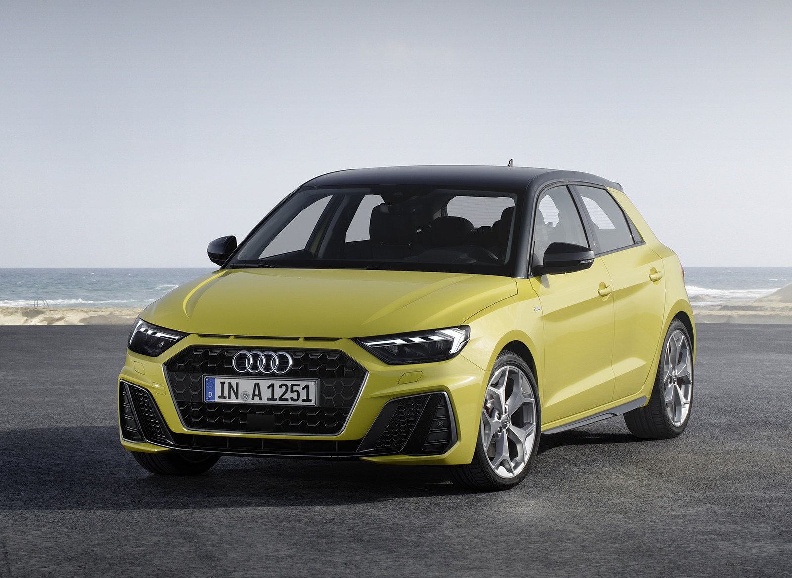 2019 Audi A1 Sportback (Color: Python Yellow) Front Wallpapers (15)