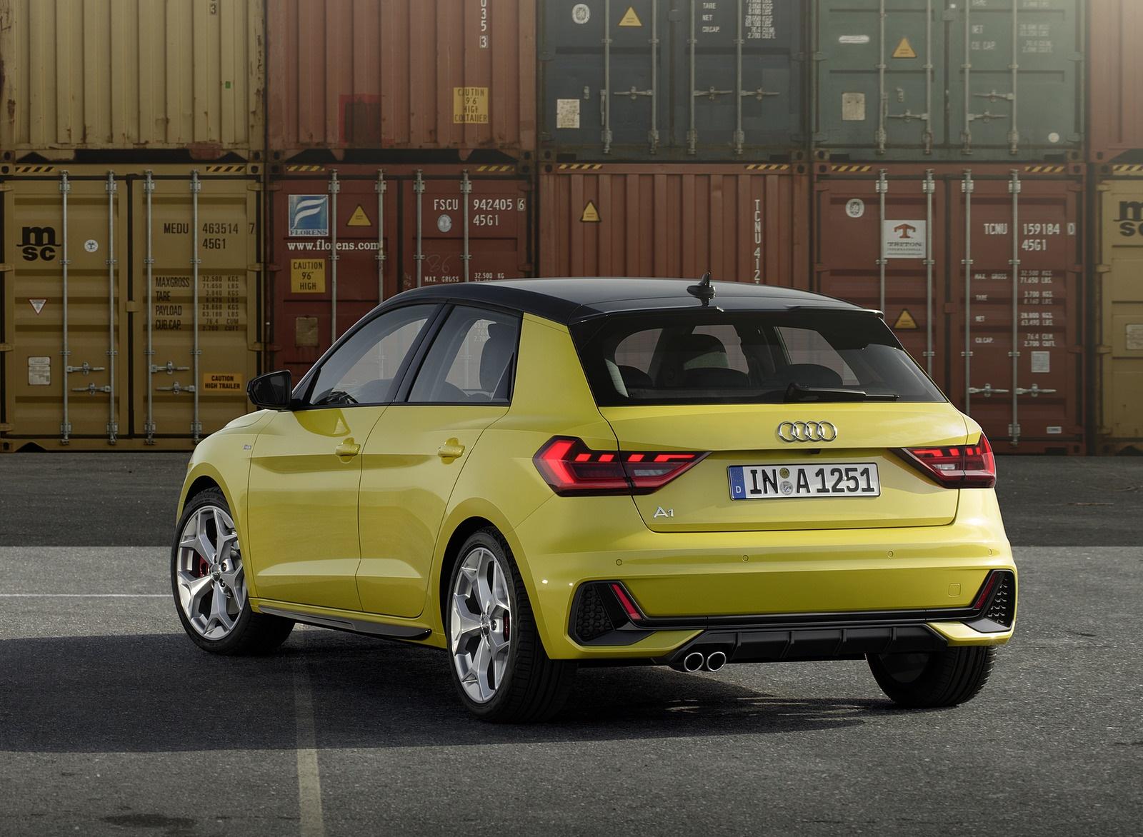 2019 Audi A1 Sportback (Color: Python Yellow) Rear Three-Quarter Wallpapers (13)