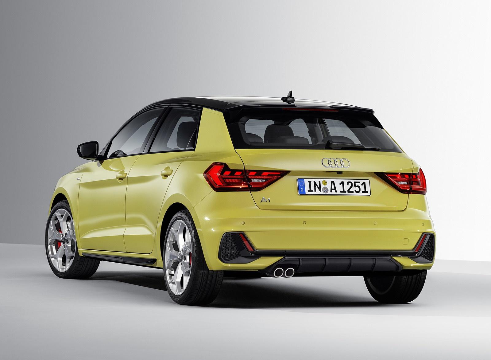 2020 - [Dacia] Sandero / Logan III - Page 19 2019-Audi-A1-Sportback-Color-Python-Yellow-Rear-Three-Quarter-Wallpaper