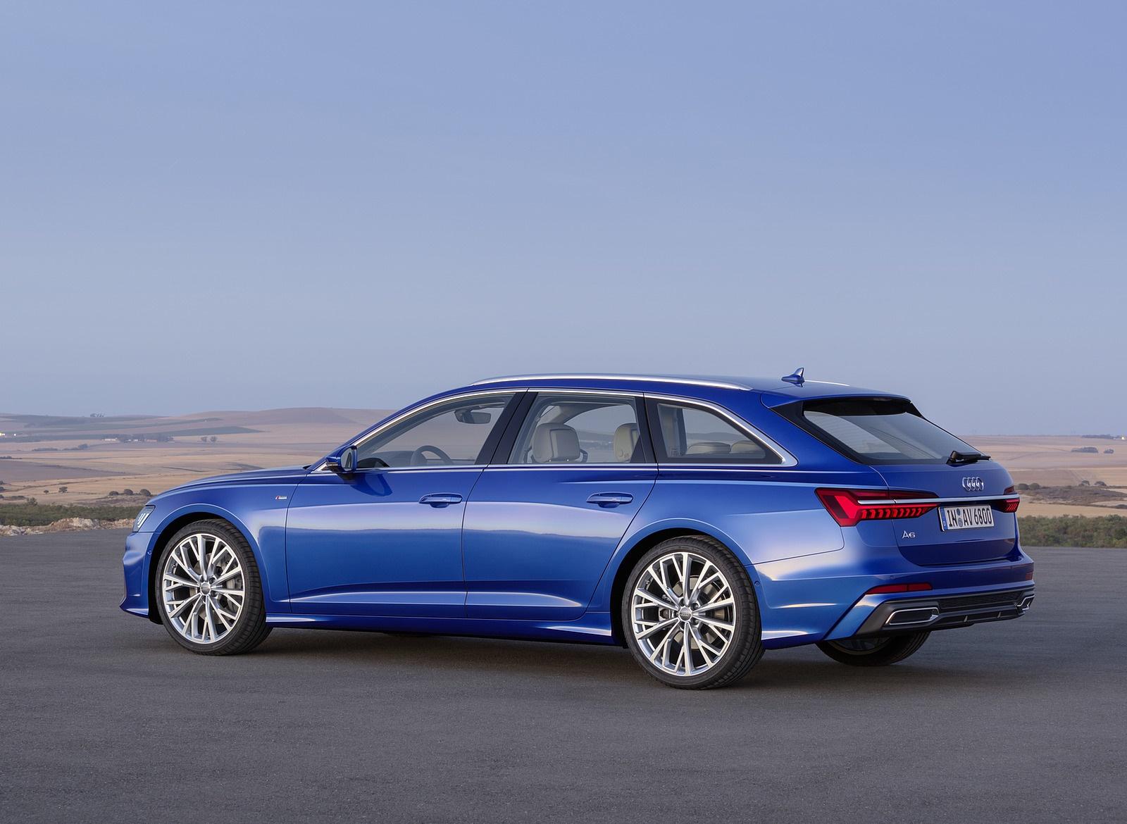 2019 Audi A6 Avant (Color: Sepang Blue) Rear Three-Quarter Wallpapers (12)