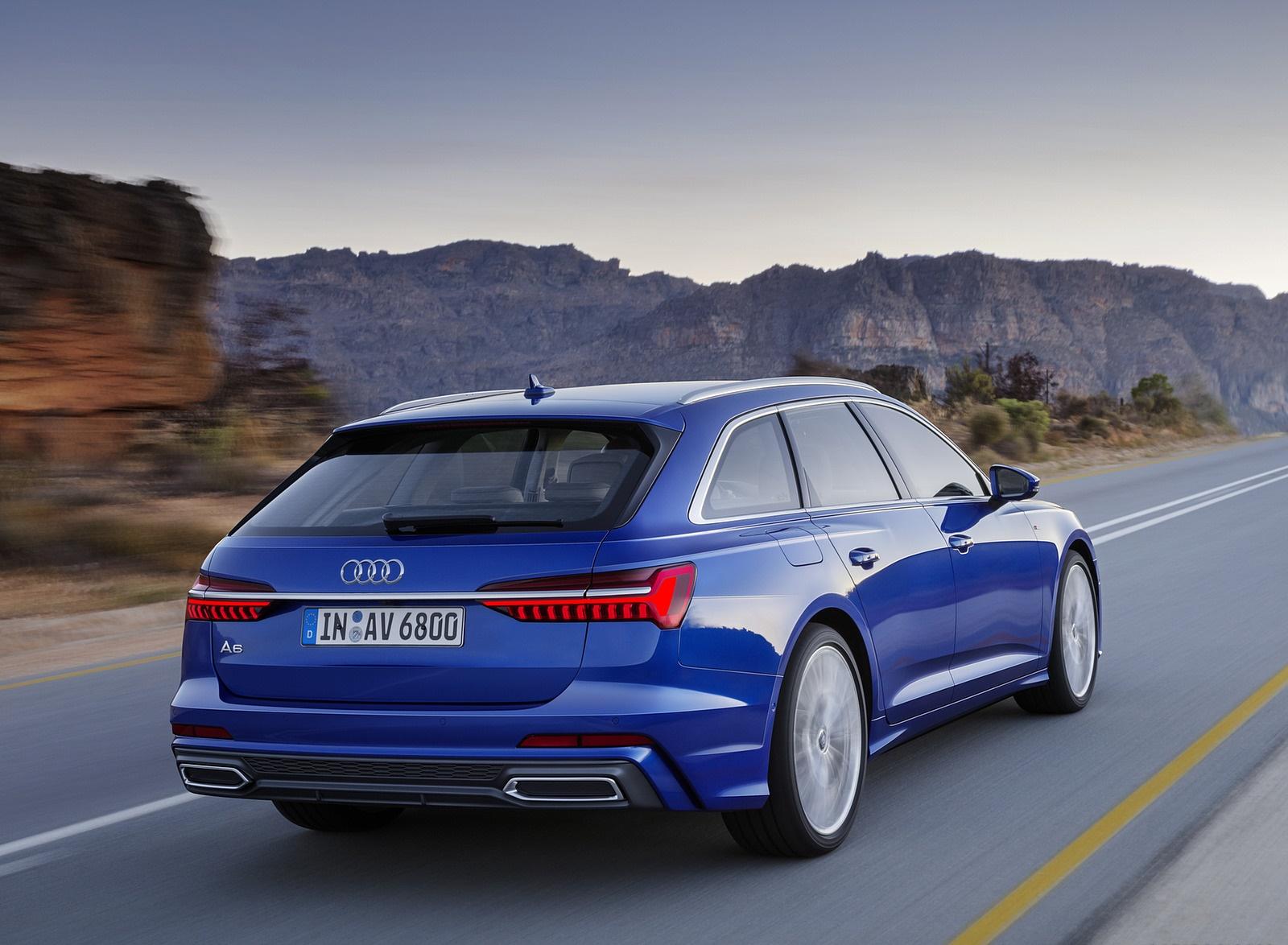 2019 Audi A6 Avant (Color: Sepang Blue) Rear Three-Quarter Wallpapers (5)