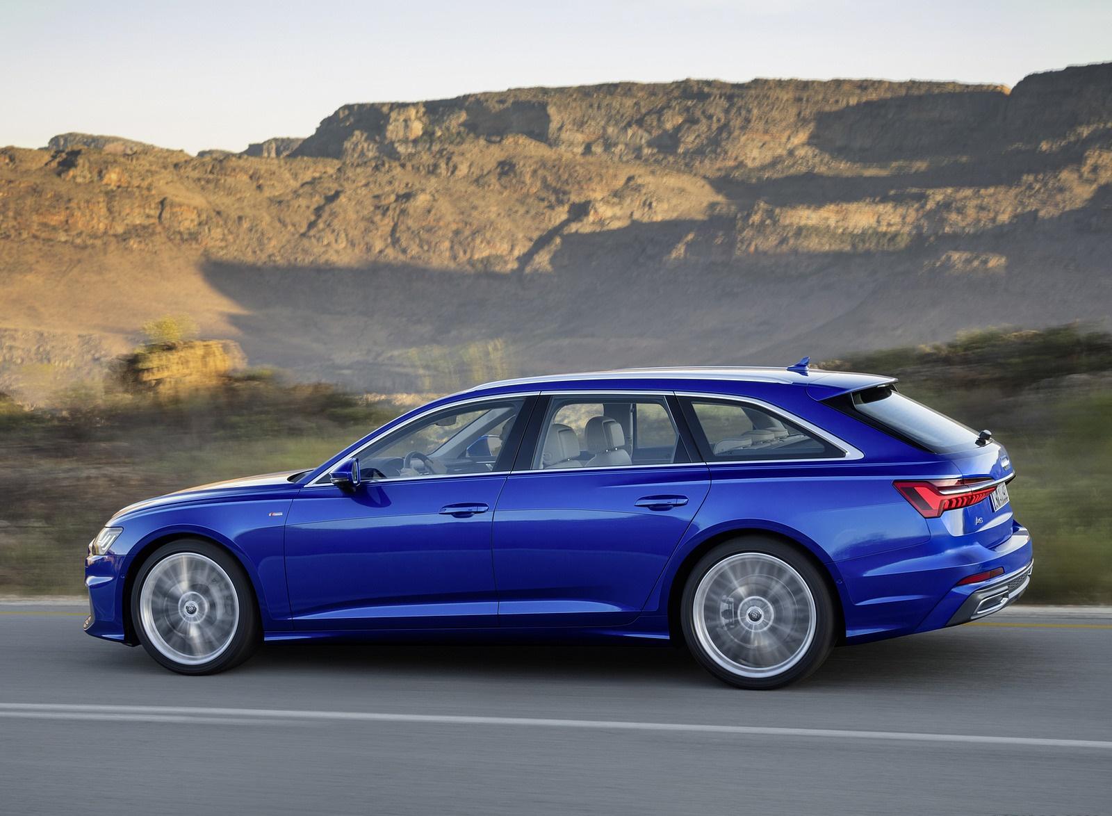 2019 Audi A6 Avant (Color: Sepang Blue) Side Wallpapers (6)