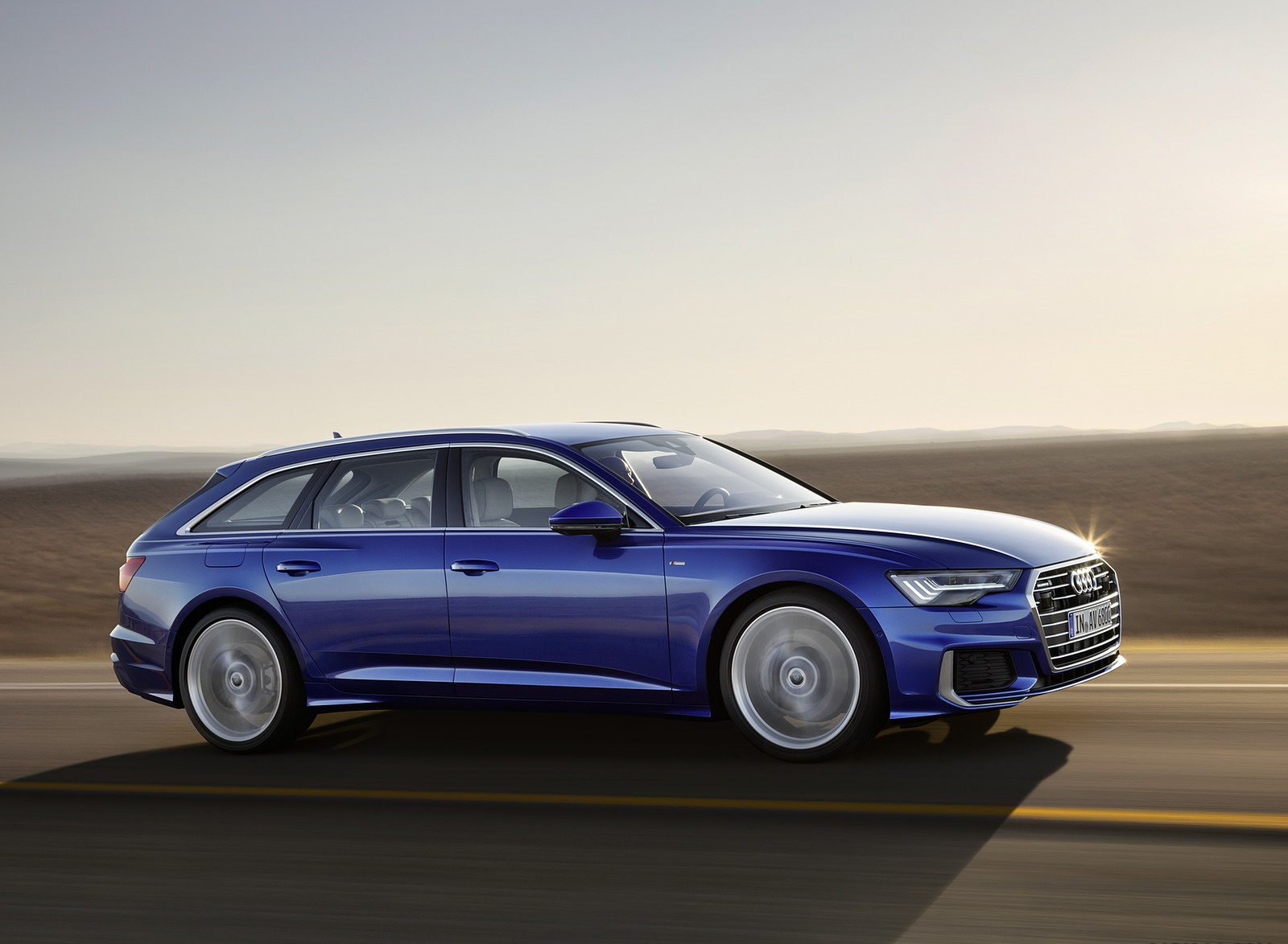 2019 Audi A6 Avant (Color: Sepang Blue) Side Wallpapers (7)