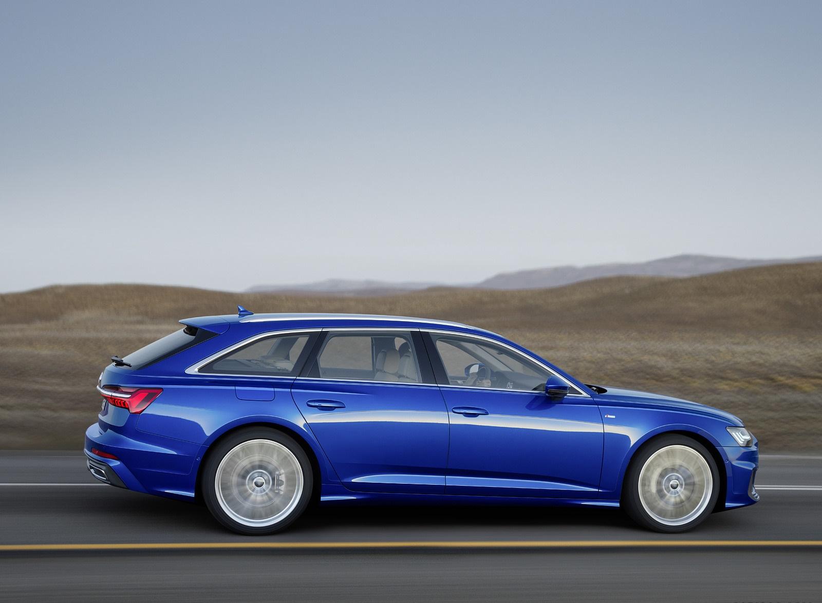 2019 Audi A6 Avant (Color: Sepang Blue) Side Wallpapers (8)