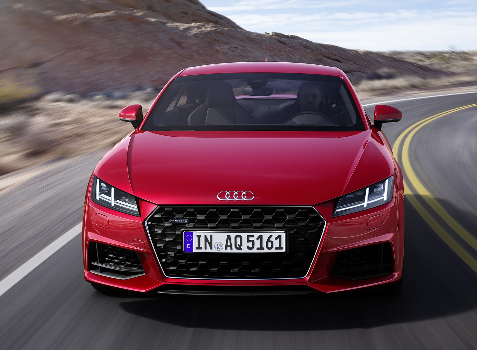 2019 Audi TT Coupe (Color: Tango Red) Front Wallpaper (1)
