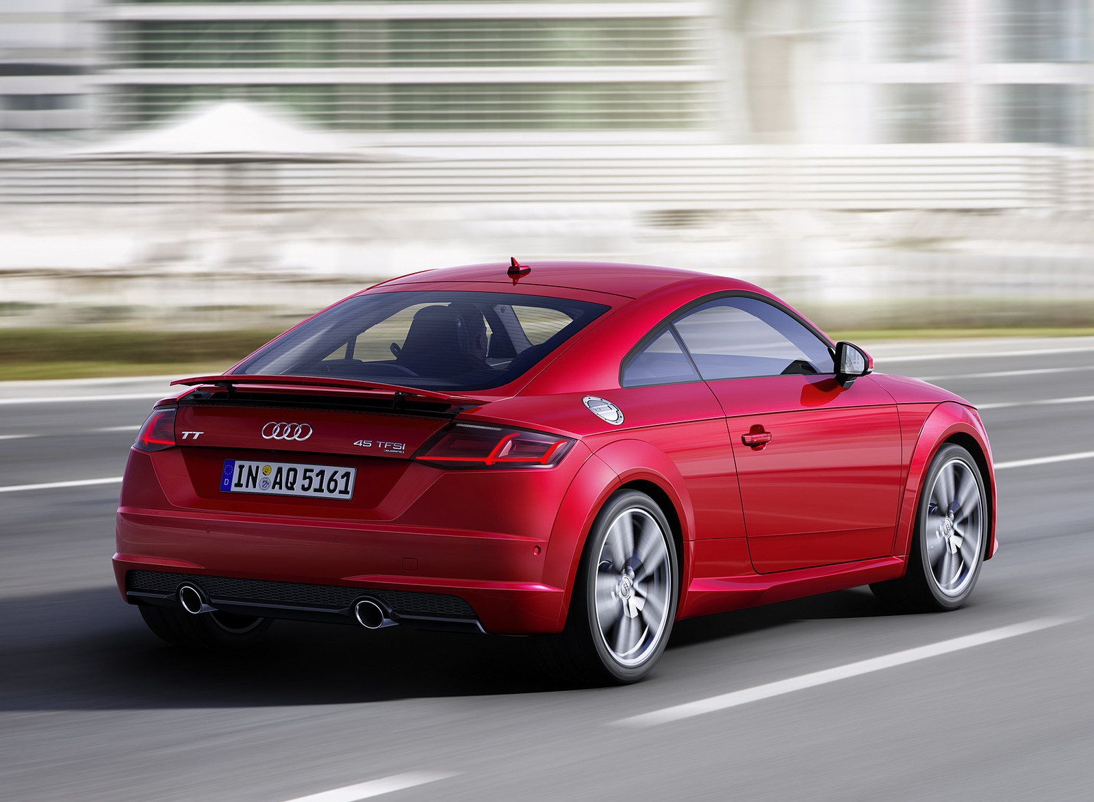 2019 Audi TT Coupe (Color: Tango Red) Rear Three-Quarter Wallpaper (7)