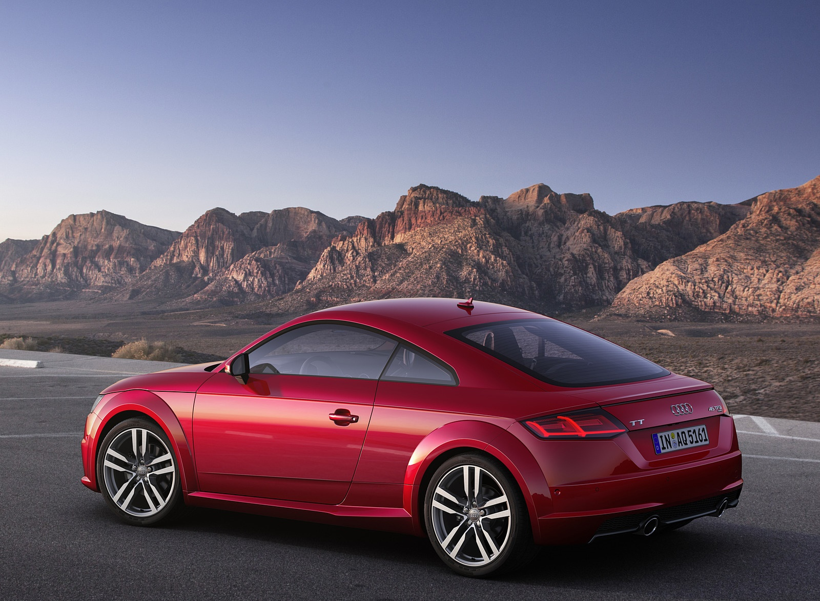 2019 Audi TT Coupe (Color: Tango Red) Rear Three-Quarter Wallpaper (11)