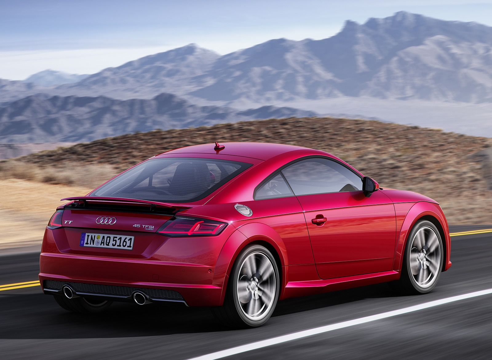 2019 Audi TT Coupe (Color: Tango Red) Rear Three-Quarter Wallpapers (6)