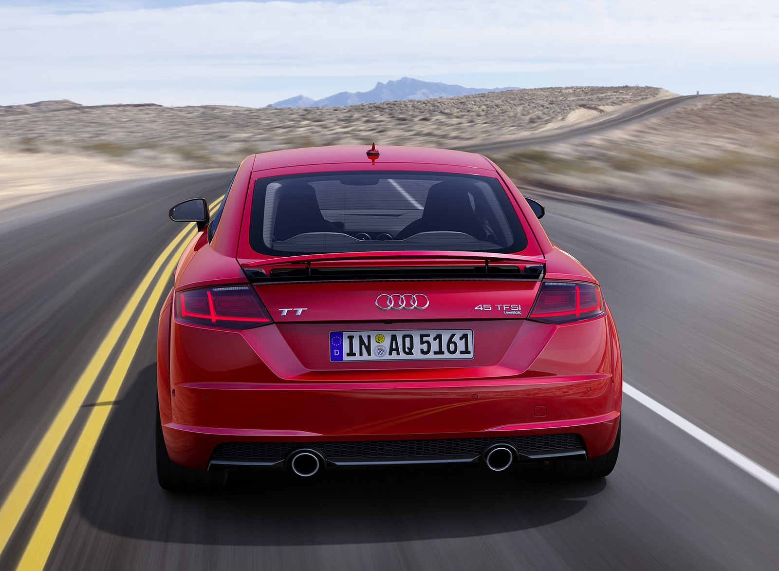 2019 Audi TT Coupe (Color: Tango Red) Rear Wallpaper (3)