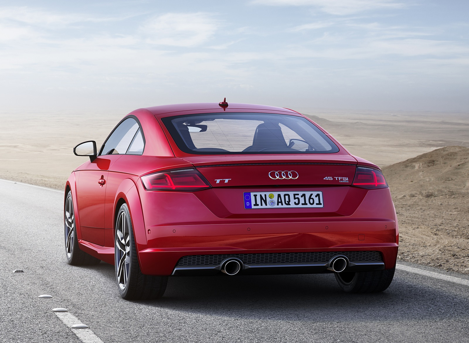 2019 Audi TT Coupe (Color: Tango Red) Rear Wallpaper (5)