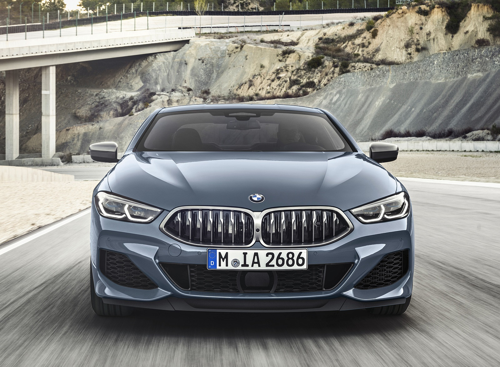 2019 BMW 8-Series M850i Front Wallpapers (2)
