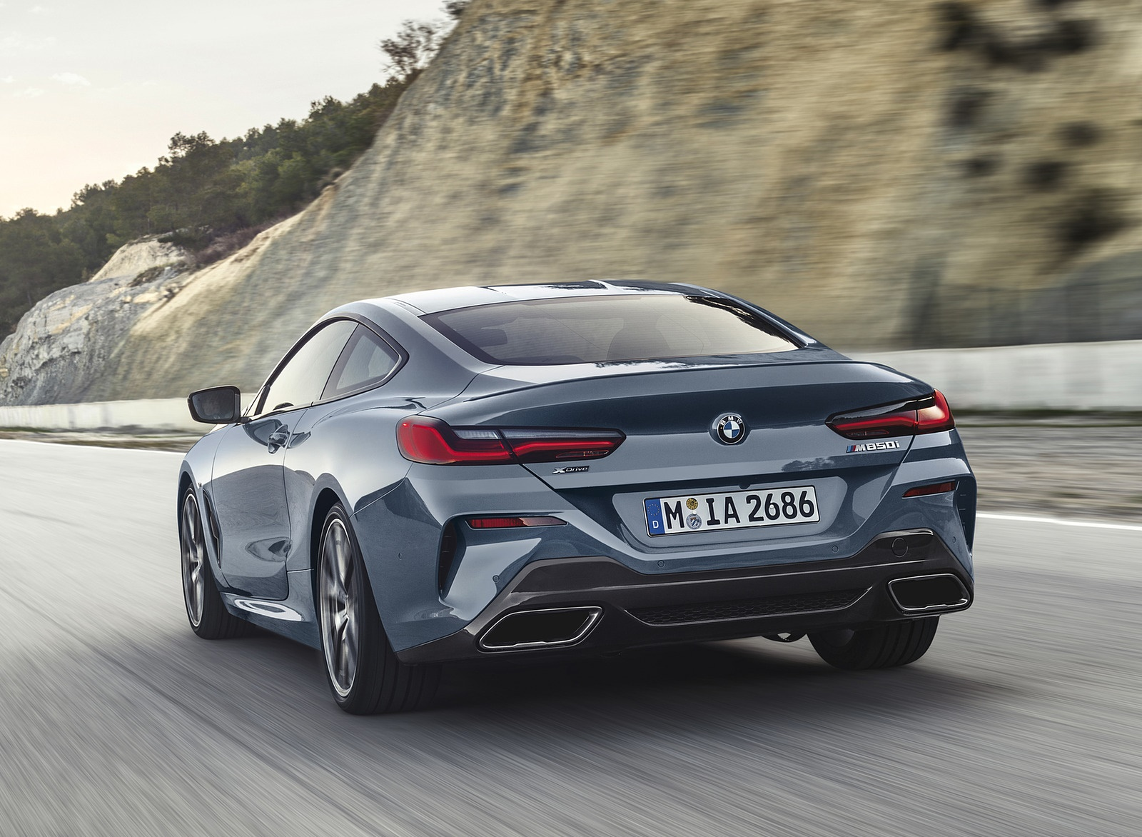 2019 BMW 8-Series M850i Rear Wallpapers (6)