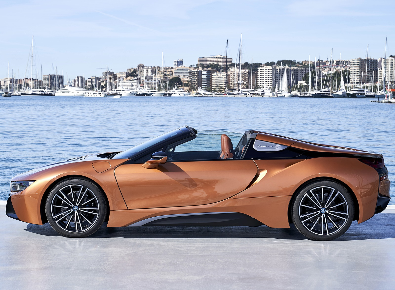 2019 Bmw I8 Roadster Color E Copper Side Wallpapers 54 Newcarcars