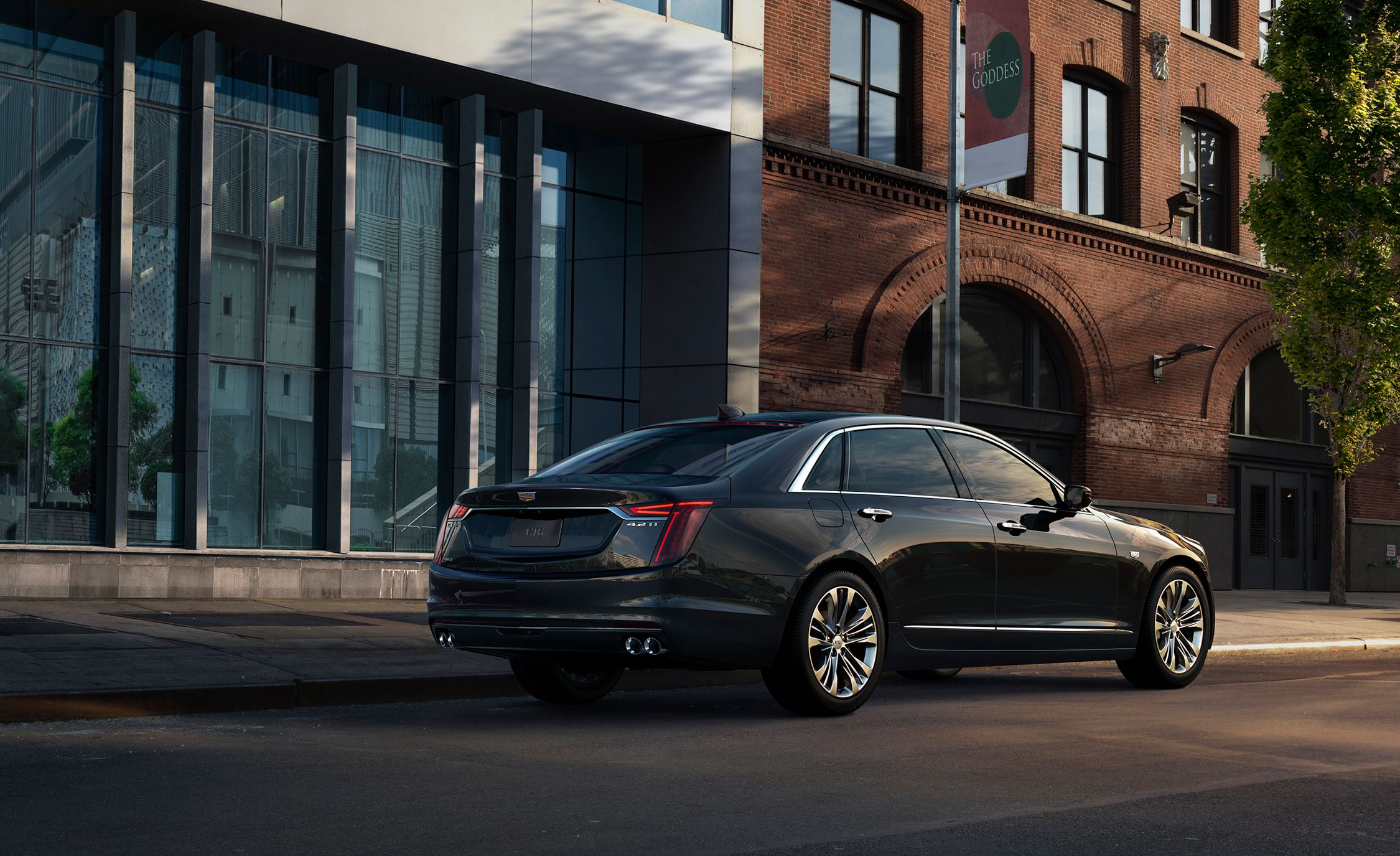 2019 Cadillac CT6 V-Sport Rear Three-Quarter Wallpapers (3)