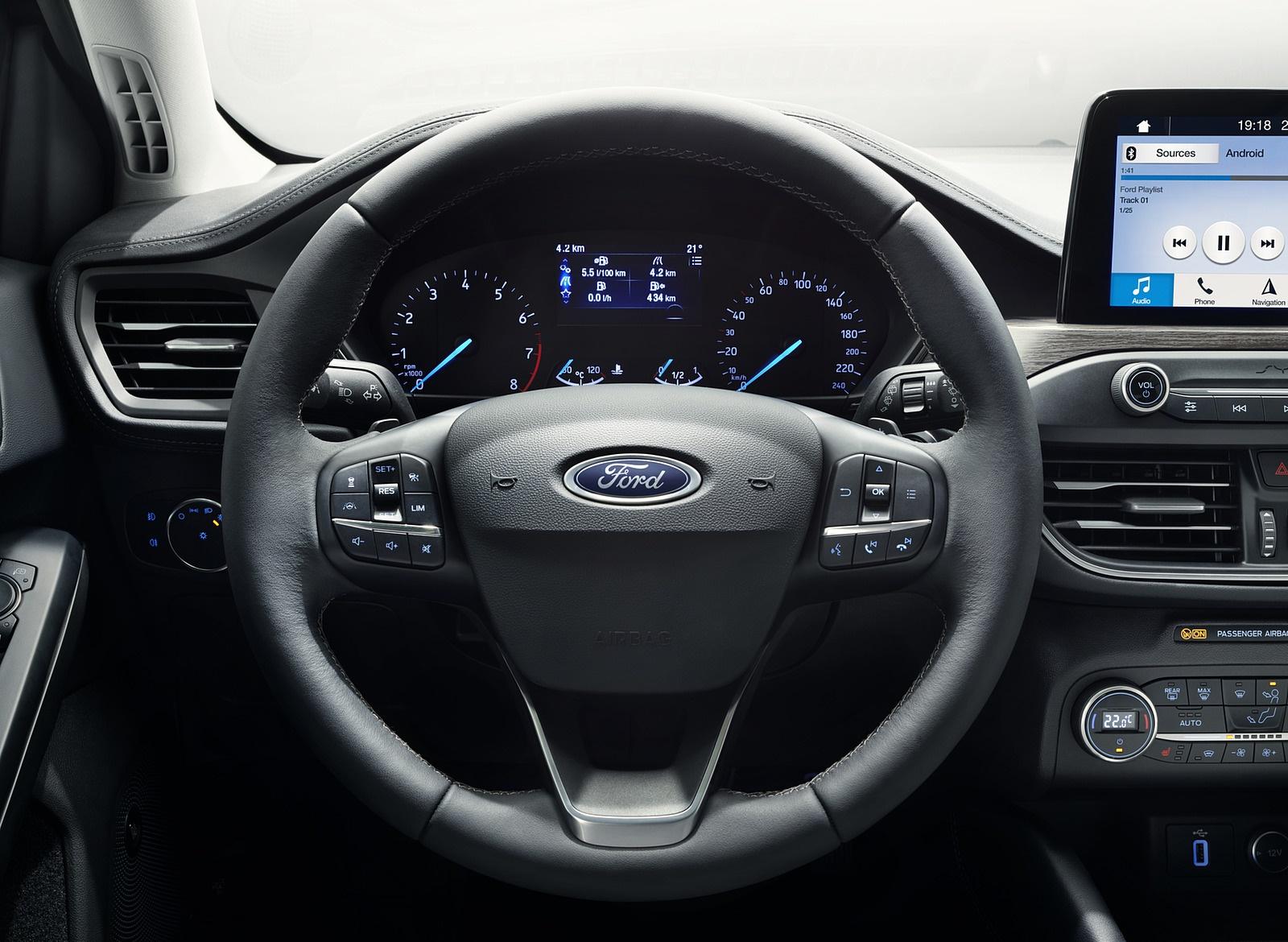 2019 Ford Focus Hatchback Vignale Interior Steering Wheel Wallpapers