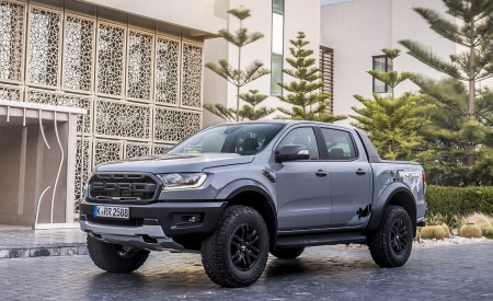 2019 Ford Ranger Raptor (Color: Conquer Grey) Front Three-Quarter Wallpapers 450x275 (47)