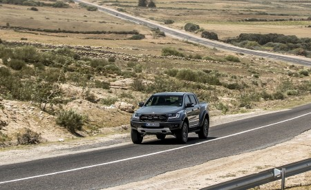 2019 Ford Ranger Raptor (Color: Conquer Grey) Front Three-Quarter Wallpapers 450x275 (4)