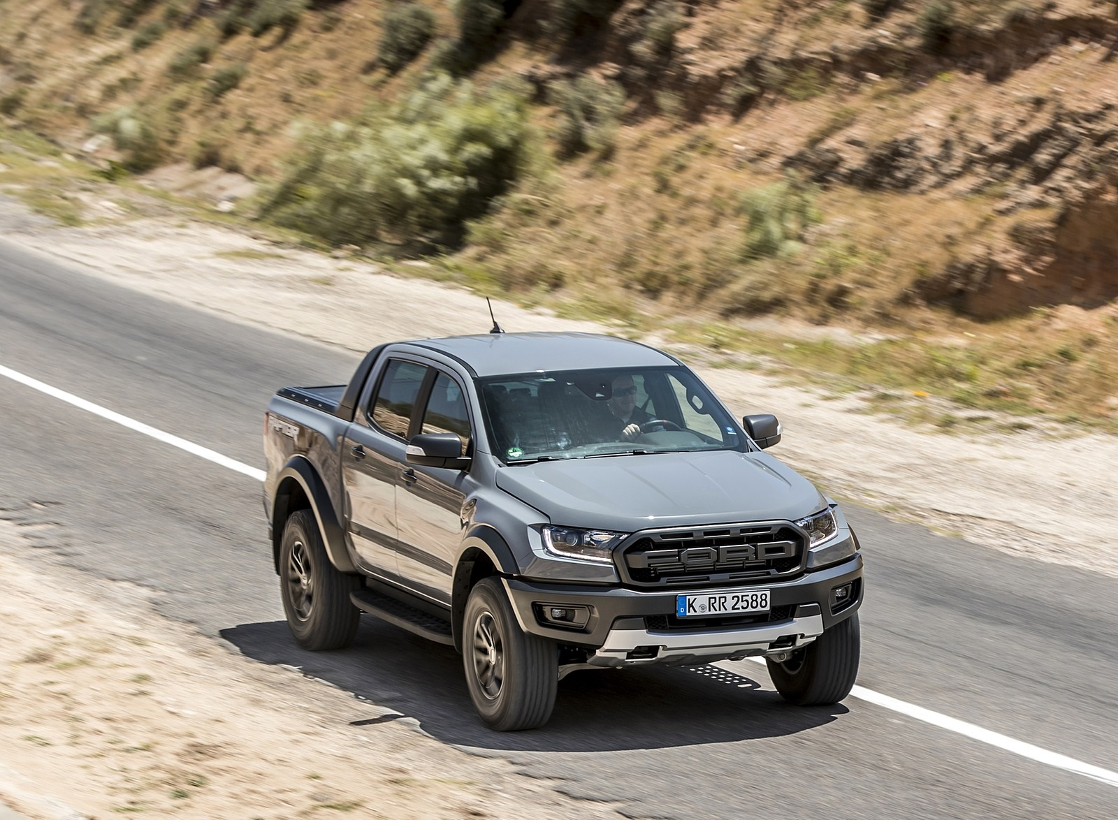 2019 Ford Ranger Raptor (Color: Conquer Grey) Front Three-Quarter Wallpapers (6)