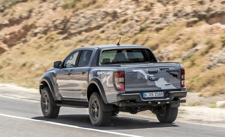 2019 Ford Ranger Raptor (Color: Conquer Grey) Rear Three-Quarter Wallpapers 450x275 (8)