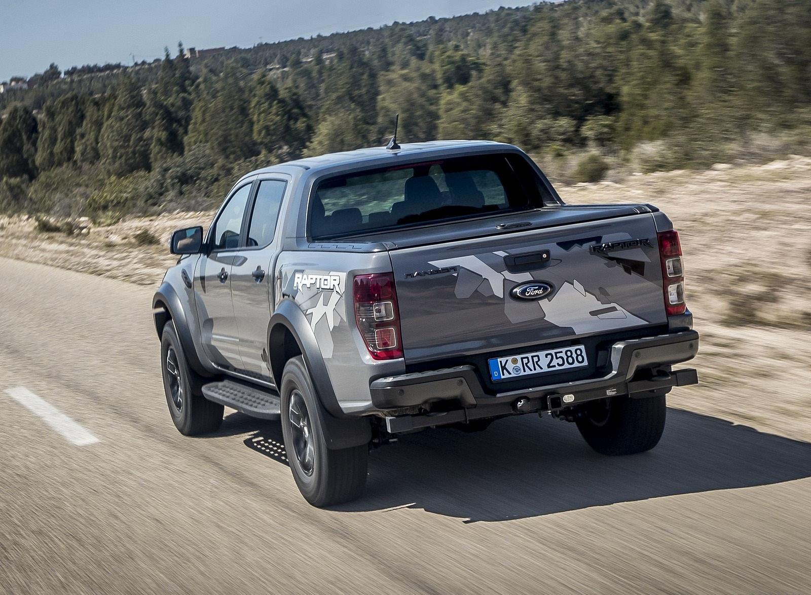 2019 Ford Ranger Raptor (Color: Conquer Grey) Rear Wallpapers (9)