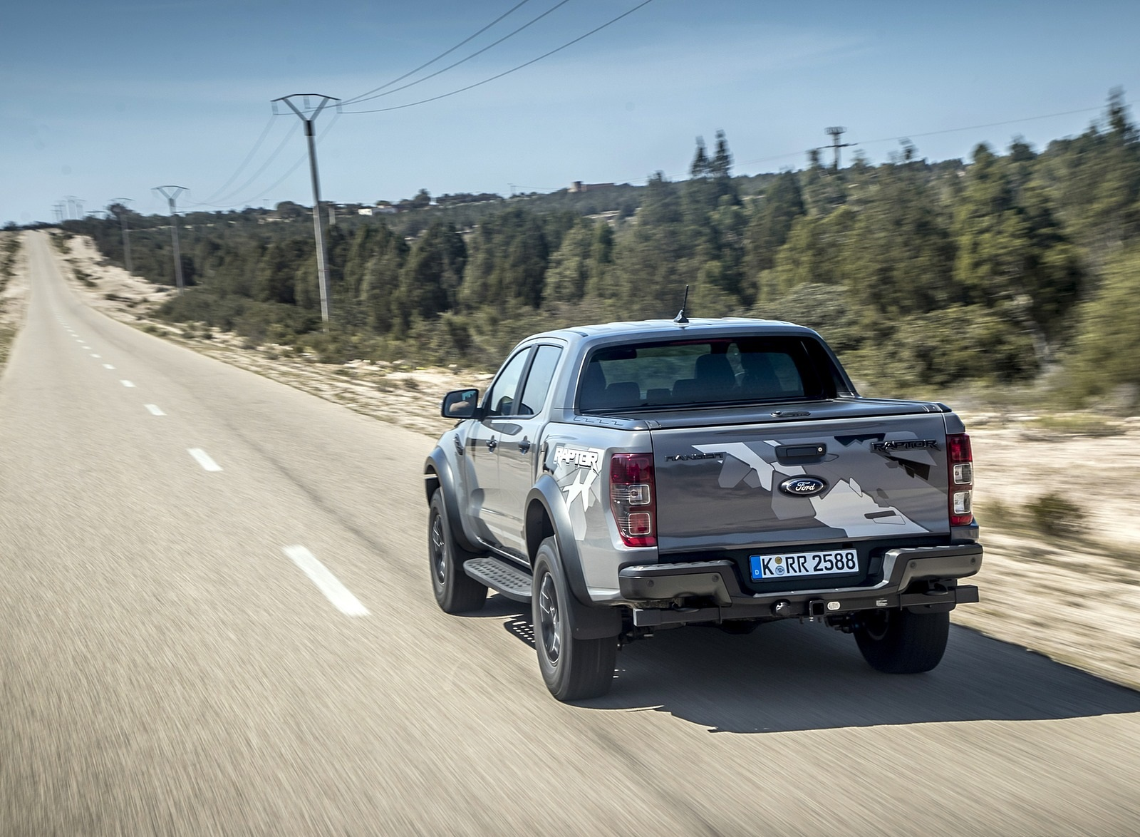 2019 Ford Ranger Raptor (Color: Conquer Grey) Rear Wallpapers (10)