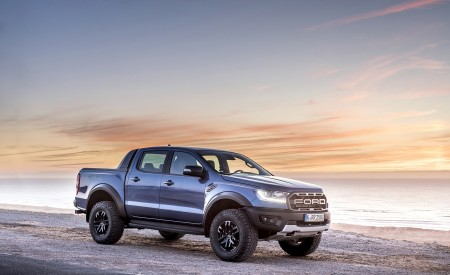 2019 Ford Ranger Raptor (Color: Performance Blue) Front Three-Quarter Wallpapers 450x275 (132)