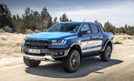 2019 Ford Ranger Raptor (Color: Performance Blue) Front Three-Quarter Wallpapers 450x275 (87)