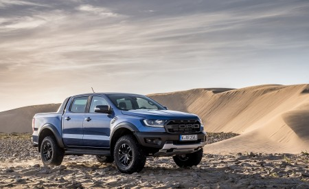 2019 Ford Ranger Raptor (Color: Performance Blue) Front Three-Quarter Wallpapers 450x275 (133)