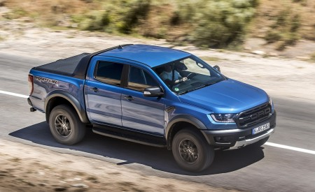 2019 Ford Ranger Raptor (Color: Performance Blue) Front Three-Quarter Wallpapers 450x275 (93)