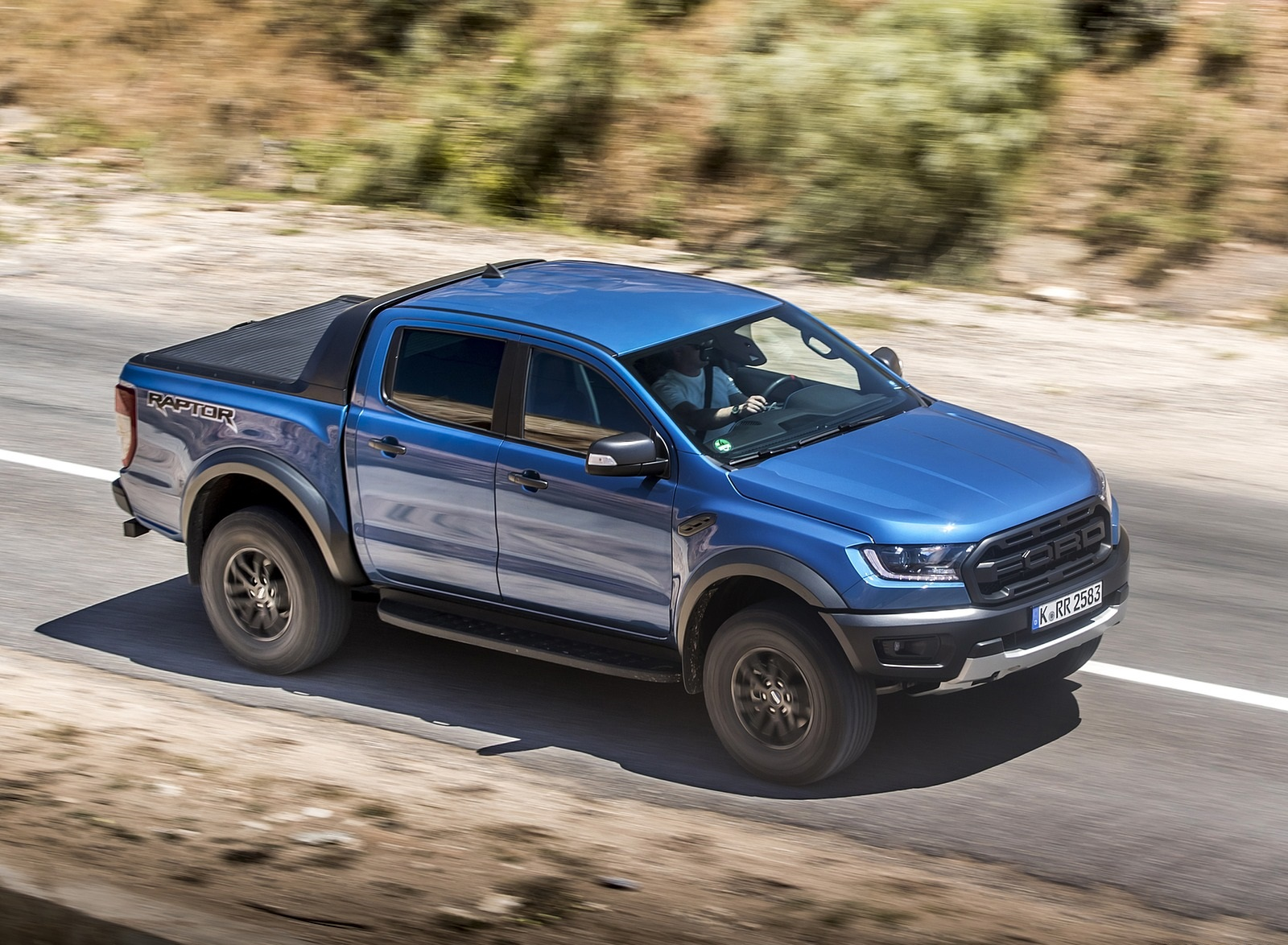 2019 Ford Ranger Raptor Color Performance Blue Front Three Quarter Wallpapers 93 Newcarcars