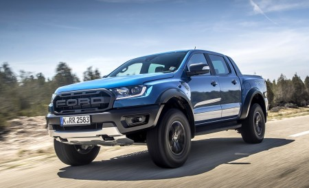 2019 Ford Ranger Raptor (Color: Performance Blue) Front Three-Quarter Wallpapers 450x275 (89)