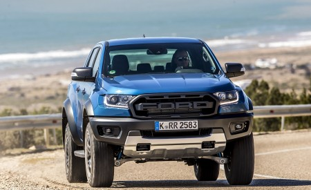 2019 Ford Ranger Raptor (Color: Performance Blue) Front Wallpapers 450x275 (96)