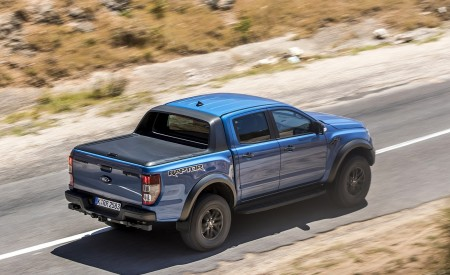 2019 Ford Ranger Raptor (Color: Performance Blue) Rear Three-Quarter Wallpapers 450x275 (105)