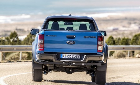 2019 Ford Ranger Raptor (Color: Performance Blue) Rear Wallpapers 450x275 (107)