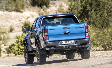 2019 Ford Ranger Raptor (Color: Performance Blue) Rear Wallpapers 450x275 (108)