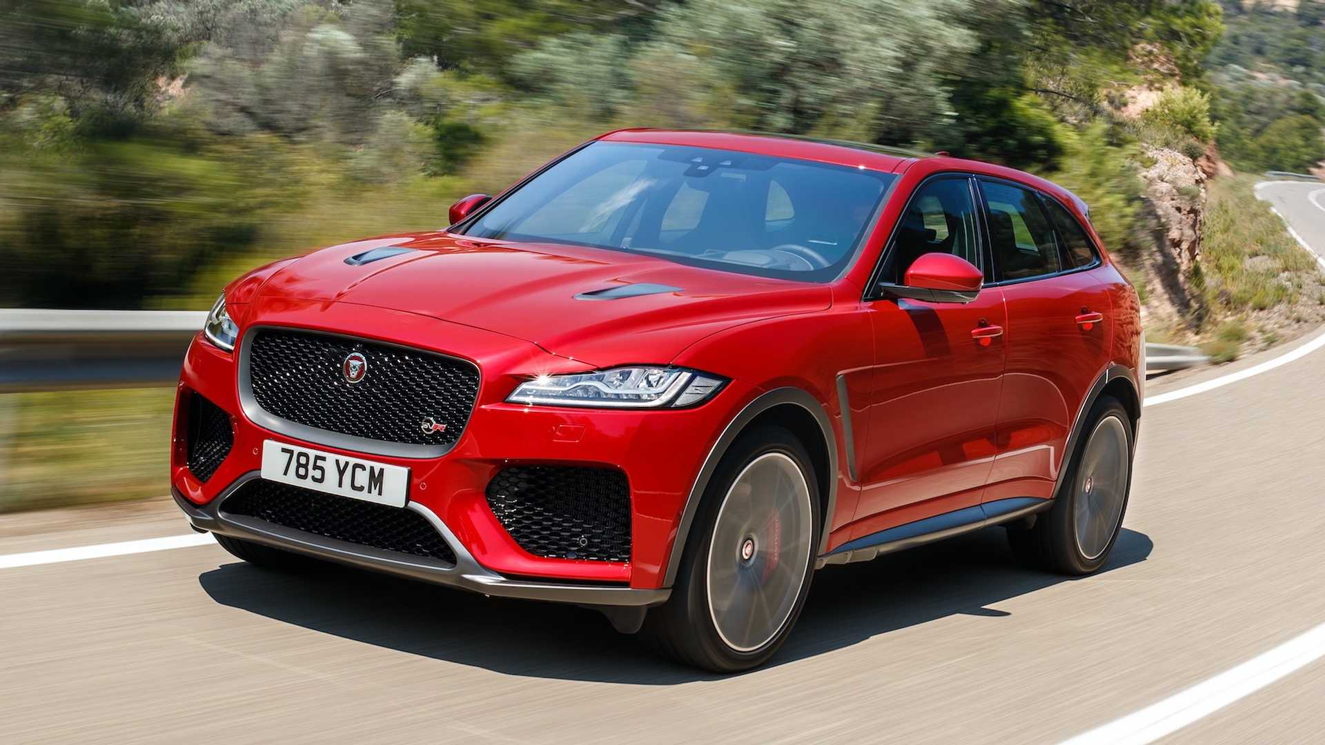 2019 Jaguar F Pace Svr Color Firenze Red Front Three