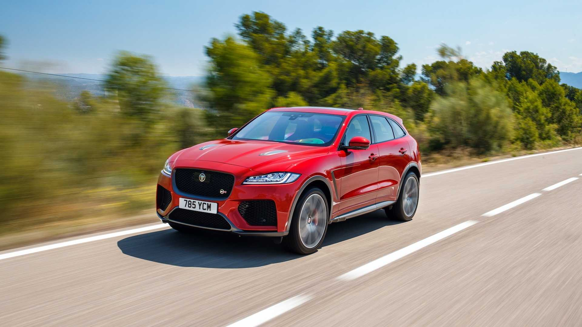 2019 Jaguar F-Pace SVR (Color: Firenze Red) Front Three-Quarter Wallpapers (5)