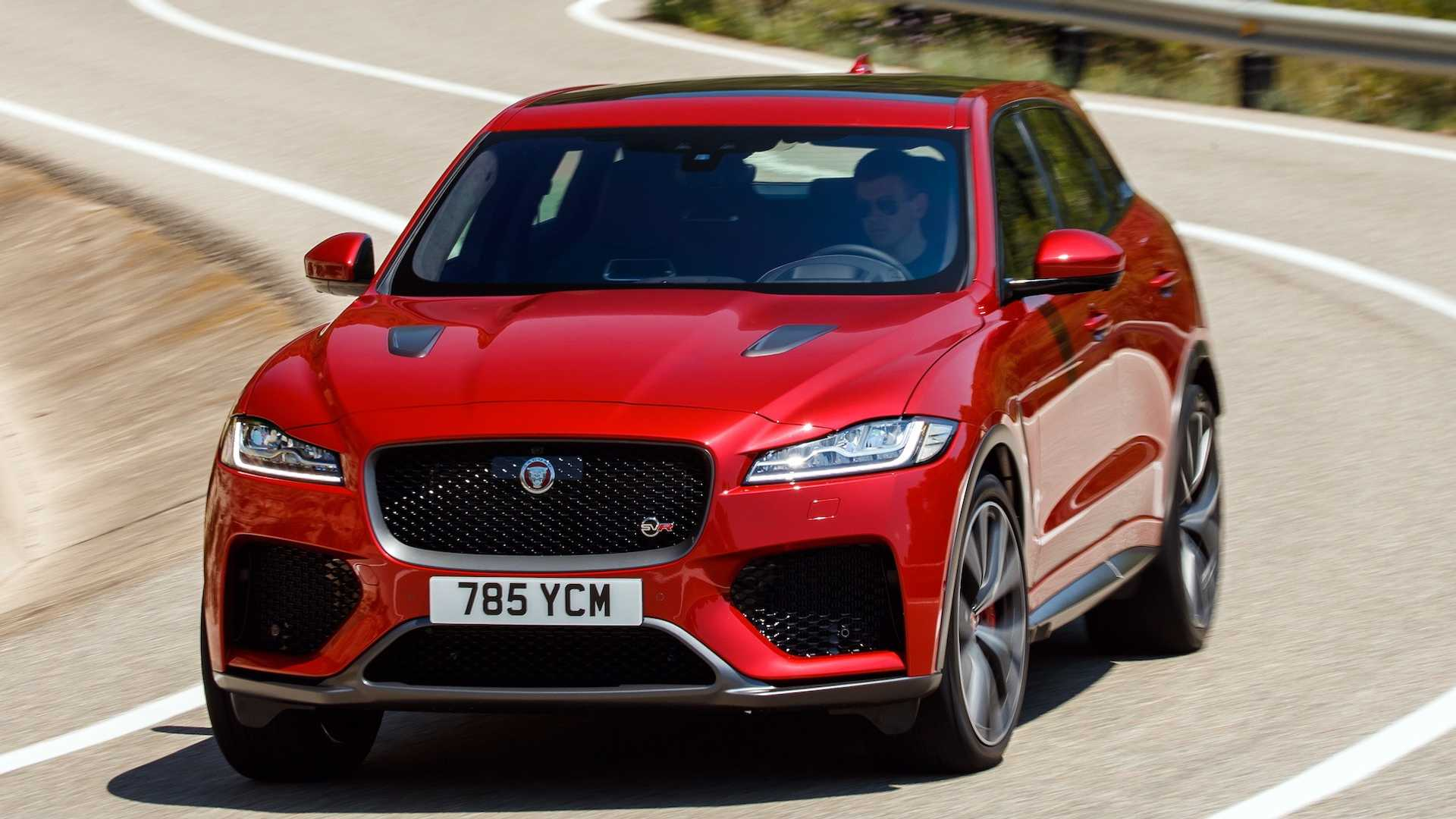 2019 Jaguar F-Pace SVR (Color: Firenze Red) Front Wallpapers (7)
