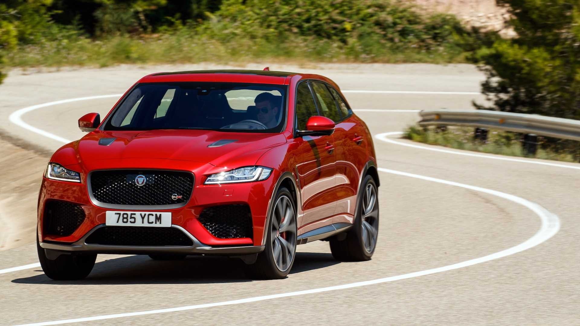 2019 Jaguar F-Pace SVR (Color: Firenze Red) Front Wallpapers (8)