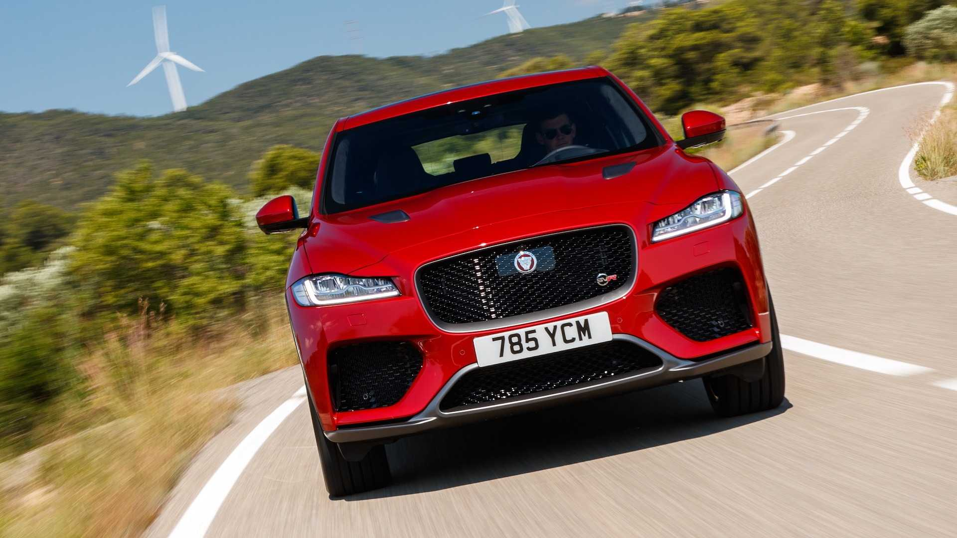 2019 Jaguar F-Pace SVR (Color: Firenze Red) Front Wallpapers (9)