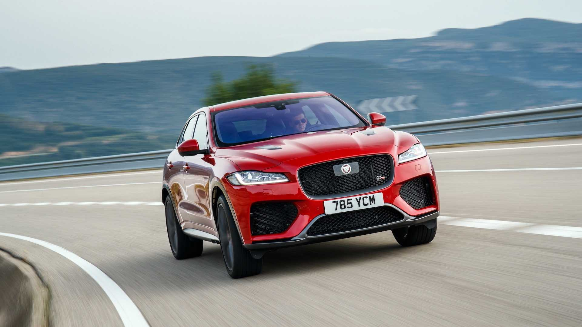 2019 Jaguar F-Pace SVR (Color: Firenze Red) Front Wallpapers (1)