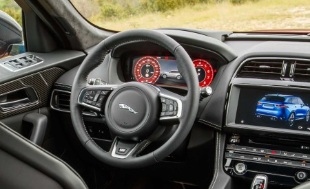 2019 Jaguar F-Pace SVR (Color: Firenze Red) Interior Steering Wheel Wallpapers 450x275 (56)