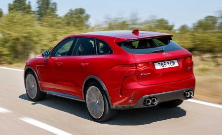 2019 Jaguar F-Pace SVR (Color: Firenze Red) Rear Three-Quarter Wallpapers 450x275 (11)