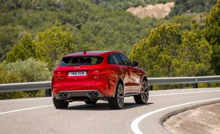 2019 Jaguar F-Pace SVR (Color: Firenze Red) Rear Wallpapers 450x275 (18)