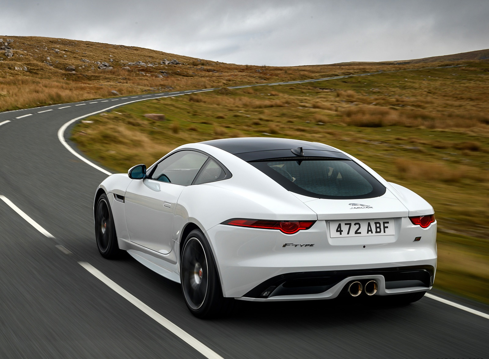 2019 Jaguar F-Type Chequered Flag Edition Rear Wallpaper (5)