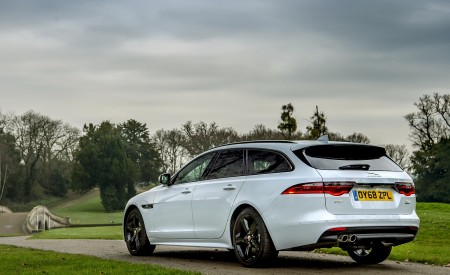 2019 Jaguar XF Sportbrake 20d AWD R-Sport Rear Three-Quarter Wallpapers 450x275 (24)