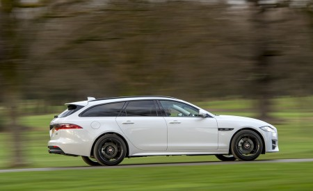 2019 Jaguar XF Sportbrake 20d AWD R-Sport Side Wallpapers 450x275 (2)
