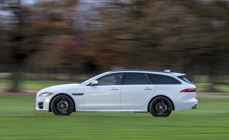 2019 Jaguar XF Sportbrake 20d AWD R-Sport Side Wallpapers 450x275 (4)