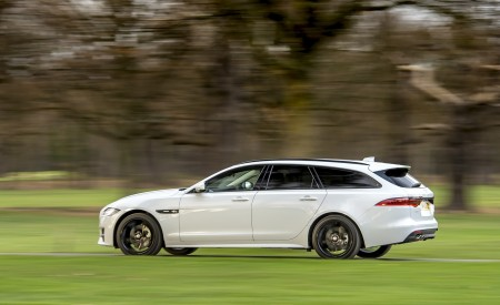 2019 Jaguar XF Sportbrake 20d AWD R-Sport Side Wallpapers 450x275 (6)